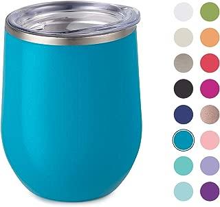 Maars Drinkware Bev Steel Insulated Wine Glass Tumbler, 1 Pack, Aqua
