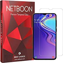 NETBOON Tempered Glass Guard 2. 5D Curved Edges Full Glue Anti-FingerPrint Screen Protector For Samsung Galaxy M20 Transparent (NT459)