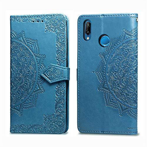 Bear Village Hülle für Huawei Nova 3, PU Lederhülle Handyhülle für Huawei Nova 3, Brieftasche Kratzfestes Magnet Handytasche mit Kartenfach, Blau
