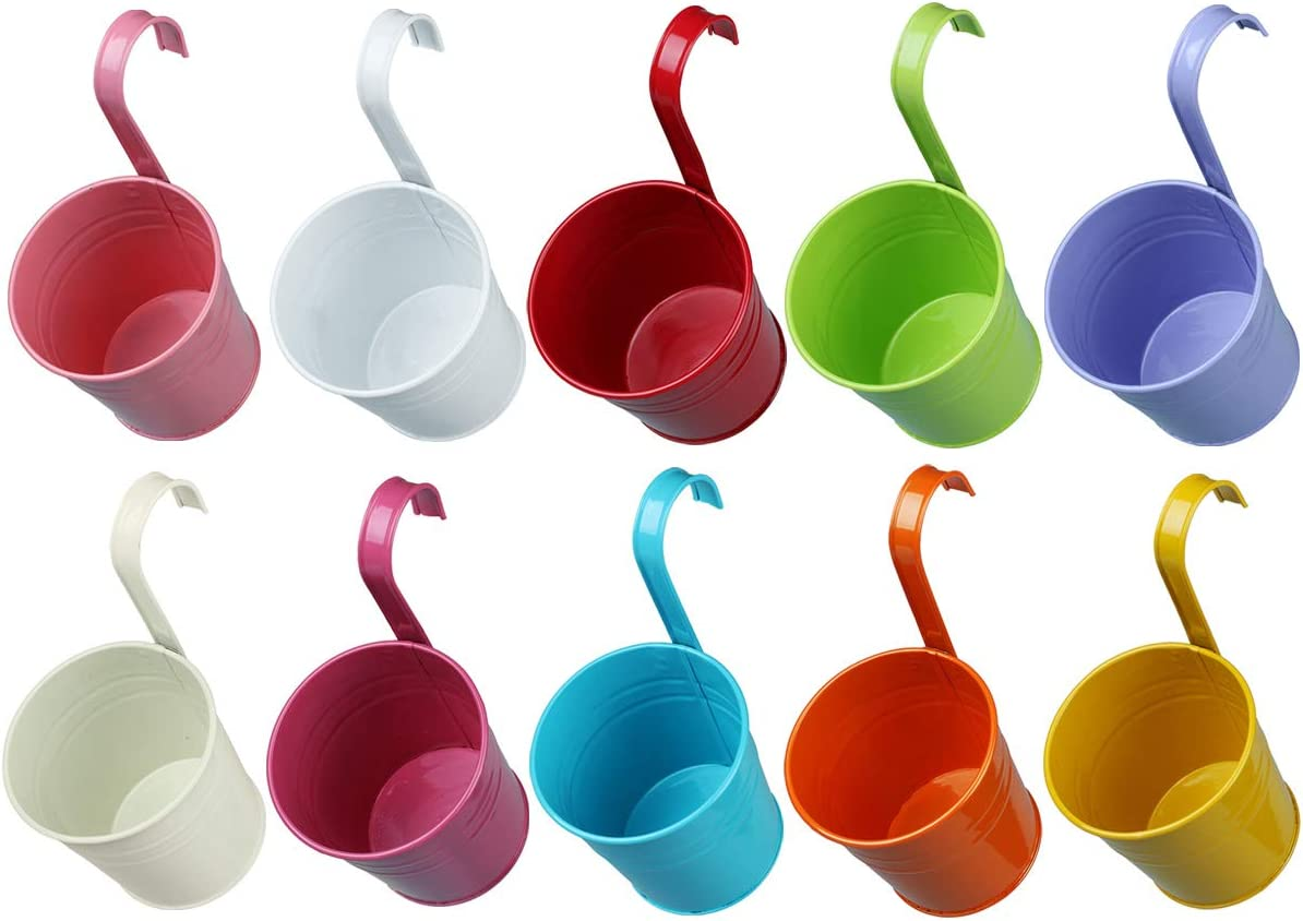 Vlovelife 10pcs Colorful Max 51% OFF Easy-to-use Hanging Planter Metal Pots Flo
