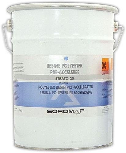 SorMAP Resine polyester pré-accelerée thixo 5kg
