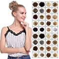 Scrunchy Updo Wavy Straight Hair Bun Clip Messy Donut Chignons Synthetic Hairpiece Hair Extension (light brown & ash blonde)