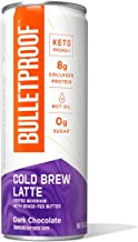 Bulletproof Dark Chocolate Cold Brew Coffee Plus Collagen Protein, Keto Friendly with Brain Octane C8 MCT Oil and Grass Fe...