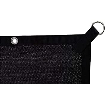 Black 12 Bungee Balls Shatex 90/% Shade Fabric Shade Fabric Sun Shade Cloth with Grommets for Pergola Cover Canopy 6 x 8