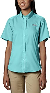 Columbia Sportswear Women's Plus-Size Tamiami II Short Sleeve Shirt, Clear Blue, 1X