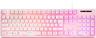 CQ104 Gaming Keyboard USB Wired Floating Keyboard, Quiet Erg