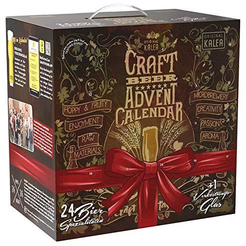 Kalea Craft Bier Adventskalender 2020 | 24 x 0,33 l Craft Beer | Geschenkidee zur Vorweihnachtszeit für Männer | inklusive Sondersude | limitierte Auflage