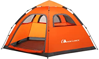 MOON LENCE Instant Pop Up Tent Family Camping Tent 4-5 Person Portable Tent Automatic Tent Waterproof Windproof for Campin...