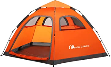 MOON LENCE Instant Pop Up Tent Family Camping Tent 4-5...