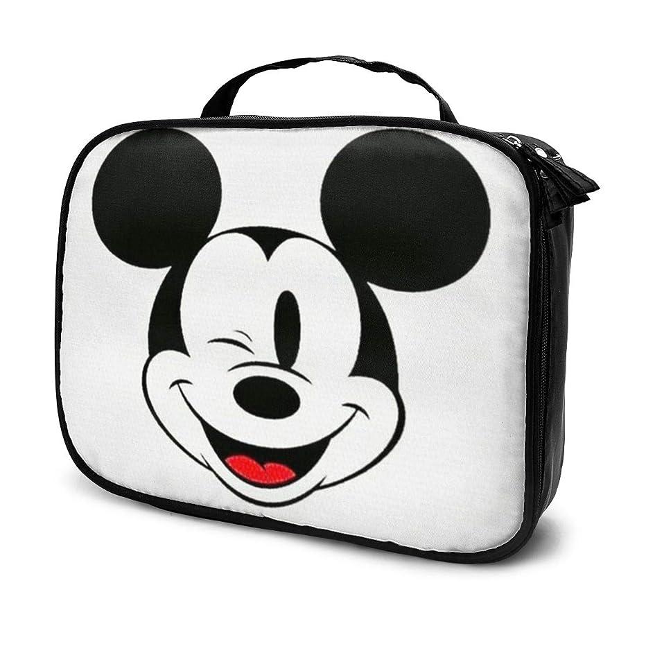 欠伸配当意義Daituウィンクミッキー 化粧品袋の女性旅行バッグ収納大容量防水アクセサリー旅行
