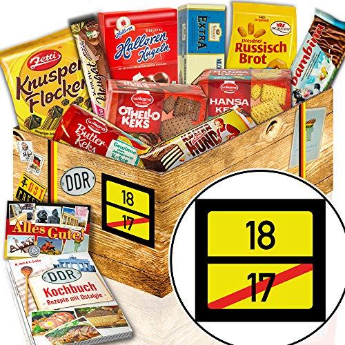 Keks Geschenkset / Ost Box / Ortsschild 18 / 18 Geburtstag Männer Geschenke