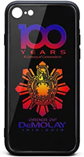 QILI Case for iPhone 6 Plus/6s Plus 100 Years a Century of Camaraderie Demolay Shockproof Fashion Protection Cover