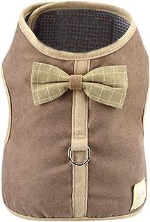 Dog and Cat Universal Harness with Leash Set,BOLUBILUY Pet Puppy Corduroy Mesh Vest Leash Chest Straps Belt Adjustabl