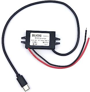 SSLHONG QC3.0 USB C DC DC Converter Buck Module 8-35V 12V/24V to 5V 3A 9V 2A 12V 1.5A Type c USB Output Step Down Voltage ...