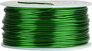 TEMCo 18 AWG Copper Magnet Wire - 1 lb 199 ft 155°C Magnetic Coil Green