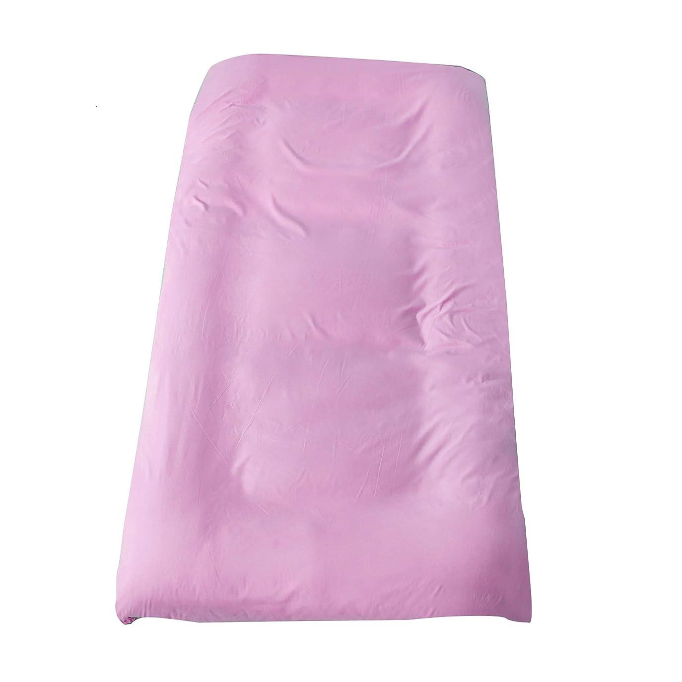 圧縮を通してサイズ敷布団カバー シングル ワンタッチシーツ ピンク 無地 洗い替え 防ダニ 通気吸湿 フィットシーツ 柔らかい