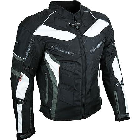 Heyberry Kurze Textil Motorrad Jacke Motorradjacke Schwarz Gr 6xl Auto