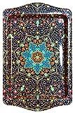 BOHORIA® Bandeja para servir de diseño premium, bandejas decorativas para cristal, tazas, cuencos en su mesa de madera, cristal o piedra (Cartagena)
