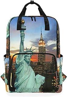 Montoj Mochila de Viaje Estatua de la Libertad de Nueva York Mochila Escolar