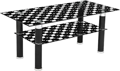 Woodness Valerie Glass Coffee Table (Black)