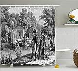 vrupi Rideaux Douche série Vintage Croquis Historique révolution française avec Napoléon sa Femme dans Le Motif l'art du...