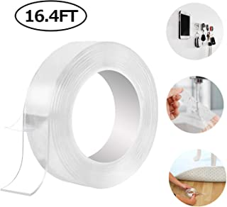 Traceless Washable Adhesive Tape Reusable Clear Double Sided Anti-Slip Nano Gel Pads Sticky Strips Grip