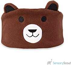 Sensory Wireless Earbuddies for Kids, Bear, Bluetooth Headphones for Sensitive Ears, Light Weight Washable Soft Fabric, Promote Easier Bedtime Routine, Home and Travel, Boys and Girls