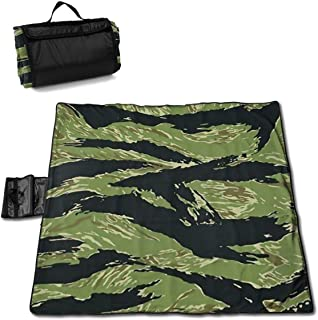 Beach Picnic Blanket Vietnam Tiger Stripe Camo Waterproof Large Outdoor Handy Mat Sand Proof Camping Travelling Accessories Foldable Family Tote On Lawn Music Festivals Quick Dry Bag