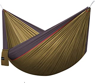 G4Free Double Camping Hammock (2 Person)- Lightweight Portable Parachute Nylon 210T Camping Hammocks for Backpacking,Backyard, 660lbs(118