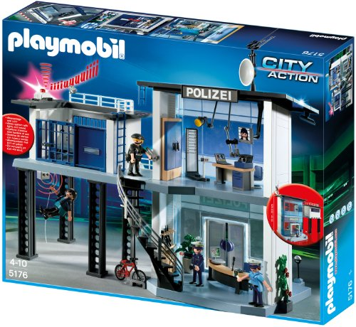 Playmobil - 5176 - Police Headquarter with Alarm - German Police - German Polizei