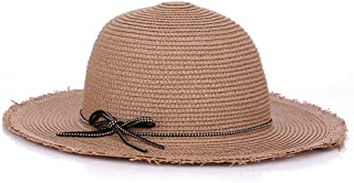ZiWen Lu Hat Ladies Summer Sun hat Big Along The Simple Fashion European and American Style Tide hat Knitted Straw hat (Color : Brown)