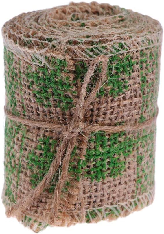 Healifty 2m 6cm Elk Pattern Burlap Ribbon Crafts H We OFFer at cheap prices DIY for Craft Super special price