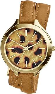 Michael Kors Slim Runway Watch for Women - Analog Leather Band - MK2327