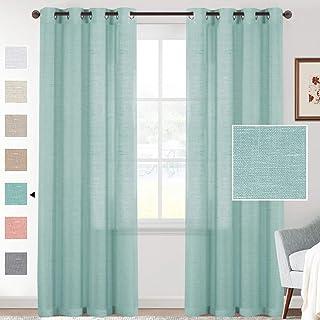 cafe camper trailer curtains sea foam green 4 panels