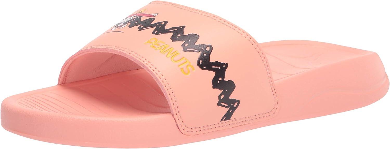 PUMA Unisex-Child Peanuts Popcat 20 Slide Sandal