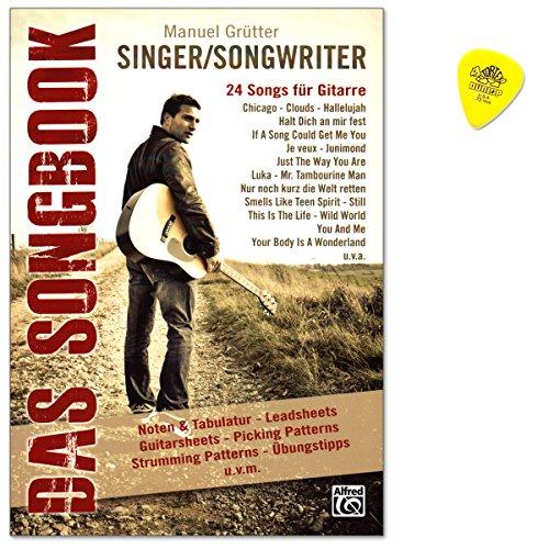 Singer/Songwriter Das Songbook - 24 populäre Singer/Songwriter-Songs mit Leadsheets in Originaltonarten sowie Guitarsheets - Notenbuch mit Plek - ALF20162G 9783933136930