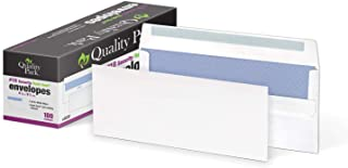 Quality Park #10 Security Tinted Envelopes with Redi-Seal Self Seal Closure for Business Mailing, 24 lb White Wove, 4-1/8 ...