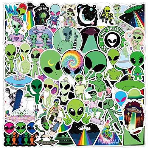 ZNMSB 50 Pegatinas de Grafiti alienígenas, Maleta con Ruedas para Equipaje, Scooter, portátil, Pegatinas Impermeables