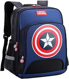 Mochilas Capitán América Niños Primaria Escuela Bolsas de la Escuela Adolescente Estudiante Mochila Dayback Impermeable