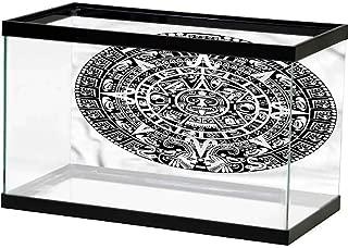 HD Aquarium Background Mesoamerican,Mayan Spiritual Statue Background Sticker