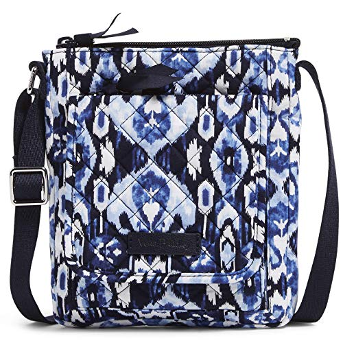 Vera Bradley Signature Cotton Mini Hipster Crossbody Purse with RFID Protection, Ikat Island