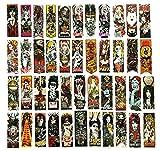 ZJJHX Gothic Wind Horror Elements Graffiti Aufkleber Dead Amateur Gepäck Trolley Skateboard Guitar Movie Aufkleber 50 Blatt