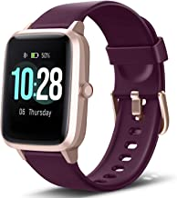 """Letsfit Smart Watch, Fitness Tracker with Heart Rate Monitor, Activity Tracker with 1.3"""" Touch Screen, IP68 Waterproof Pedometer Smartwatch with Sleep Monitor, Step Counter for Kids, Women and Men"""