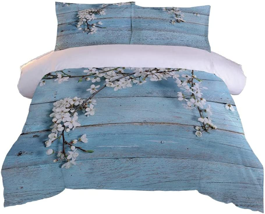 HKDGHTHJ 3D Bedding is Regular store Super White Comfortable Flowers Max 81% OFF and Soft