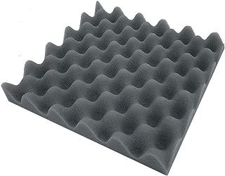 Quaanti Soundproofing Foam Panel Acoustic Egg Crate Tiles Studio Foam Sound Wedges,Absorption Sponge Studio KTV Soundproof,10