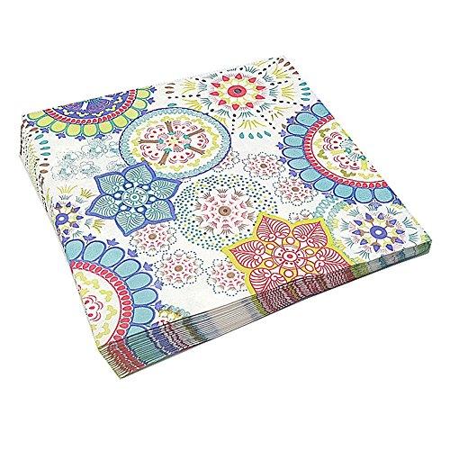 Meiosuns Servilletas de papel de flores Servilletas de papel Servilletas de té Servilletas de papel para el té, Cumpleaños (Sumérgete en el sueño, Paquete de 20)