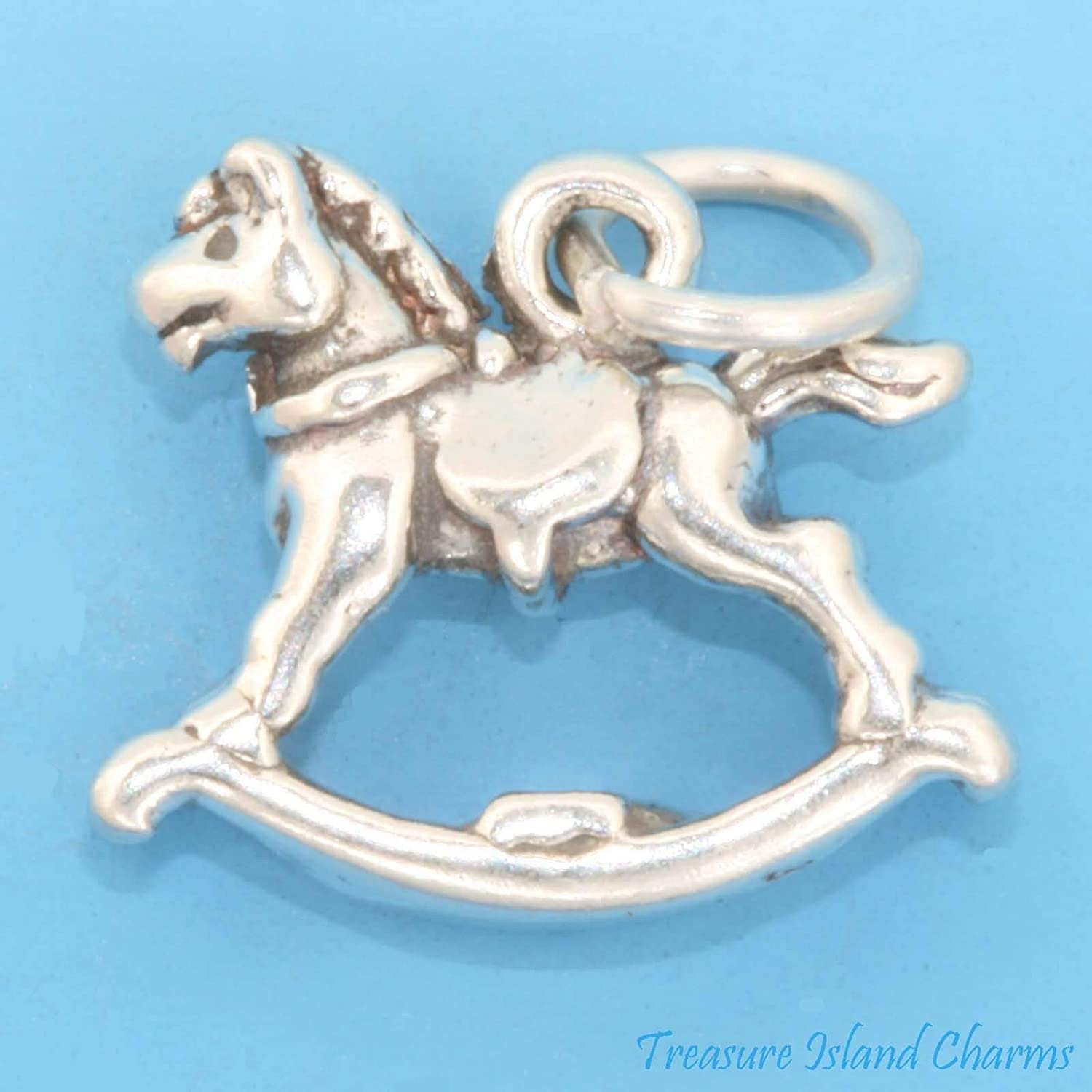 Rocking Long-awaited Horse Baby Child Kids Toy 3D 925 Ranking TOP6 Solid C Sterling Silver