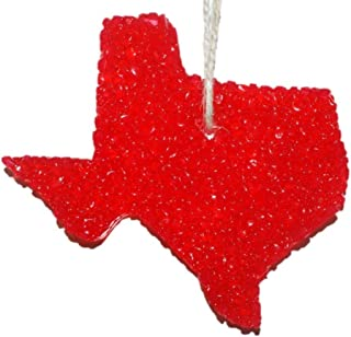 ChicWick Car Candle Strawberry Leather Texas Shape Car Freshener Fragrance