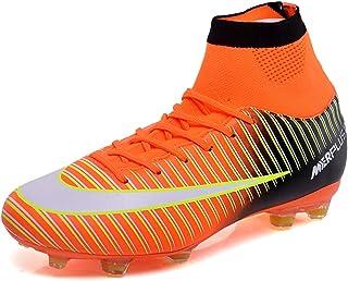 BOLOG Chaussures de Football Homme High Top Profession Athlétisme Entrainement Chaussures de Sport Adolescents Chaussures ...