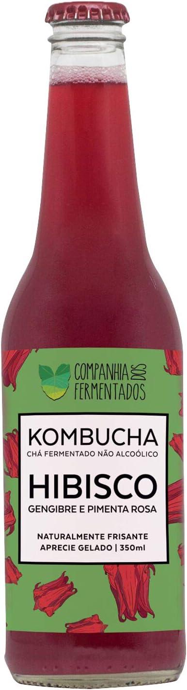 Kombucha Hibisco, Gengibre e Pimenta Rosa, 350ml